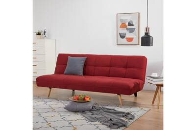 Canape Convertible Sofapur Canape Lit County Rouge 3 Places Darty