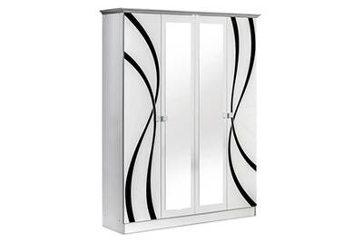 Armoire Altobuy Sylla Armoire 4 Portes Avec Miroir Central Darty