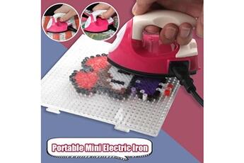 Jouets éducatifs Generic Portable mini fer électrique voyage perles en plastique artisanat vêtements fournitures de couture bt939