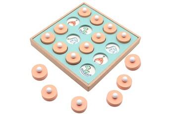 Jouets éducatifs AUCUNE Kid intelligence iq brain teaser game jeu de mémoire en bois formation logique multicolore