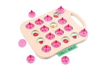 Jouets éducatifs Generic Kid intelligence iq brain teaser game jeu de mémoire en bois pensée logique toy6288