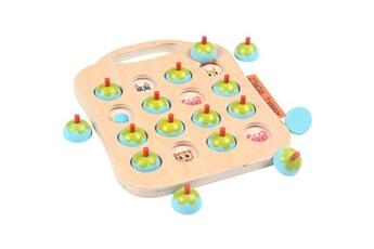 Jouets éducatifs AUCUNE Kid intelligence iq brain teaser game jeu de mémoire en bois pensée logique bleu