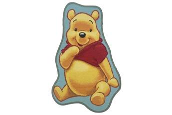 Tapis enfant Winnie Tapis enfant 50x80 cm forme originale winnie l'ourson jaune chambre adapté au chauffage par le sol