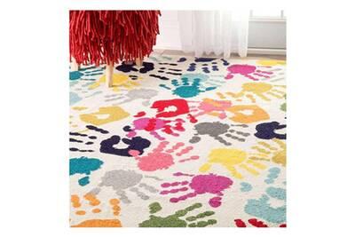 un amour de tapis handi boutik 100x100 rond cm tapis moderne tapis chambre tapis rond tapis multicolore