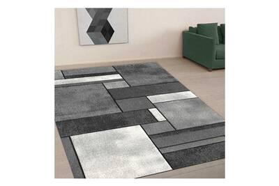 un amour de tapis petit tapis d entree interieur tapis salon moderne design contemporian geometrique poils ras tapis entree gris 40x60 cm
