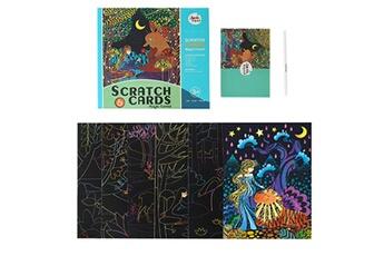 Jouets éducatifs AUCUNE Rainbow scratch it art - images magiques de cartes à gratter arc-en-ciel pour enfants zyg200409312