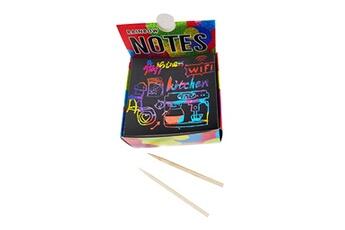 Jouets éducatifs GENERIQUE Scratch notes set scratch doodle art with 100 holographic rainbow paper,2 stylus multicolore