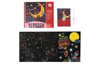 Jouets éducatifs Generic Rainbow scratch it scratch art - carte magique pour enfants rainbow scratch pictures bt1929