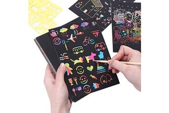 Jouets éducatifs Generic 50pcs scratch rainbow art paper set pour enfants filles garçons fun diy toy party favors bt1659
