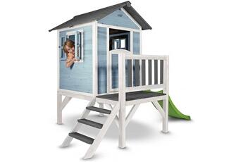 Cabane enfant Axi House Maisonnette en bois sunny lodge xl bleue