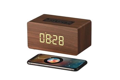 Mini haut-parleur bluetooth avec réveil multifonction et radio-fm