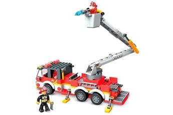 Véhicules miniatures Marque Generique Vehicule a construire - engin terrestre a construire camion de pompier - 244 pieces