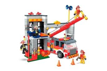 Véhicules miniatures Marque Generique Vehicule a construire - engin terrestre a construire caserne de pompiers - 528 pieces