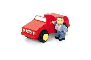 Véhicules miniatures Marque Generique Vehicule a construire - engin terrestre a construire voiture rouge avec un personnage - jouet en bois - 8083 - modele aléatoire