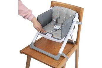 Rehausseur de chaise Marque Generique Rehausseur de table - siege de table rehausseur de chaise pliable take eat warm gray