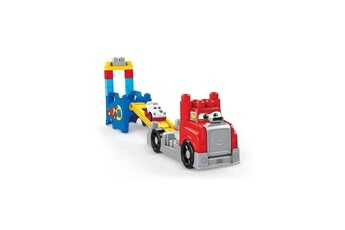 Véhicules miniatures Marque Generique Vehicule a construire - engin terrestre a construire mon camion de course - 8 blocs - 12 mois et +