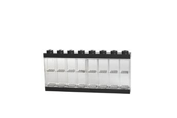 Figurine Lego Vitrine de présentation des mini-personnages lego pour 16 mini-personnages, conteneur empilable contre un mur ou sur un bureau, noir