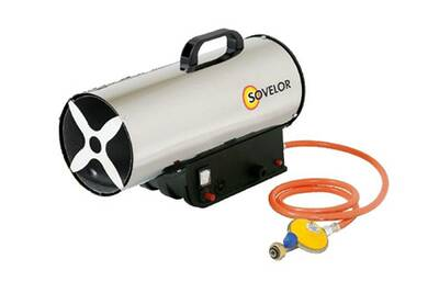 Accessoires chauffage central Sovelor Sovelor - chauffage air pulsé portable gaz propane allumage manuel 33kw 230v - mg330