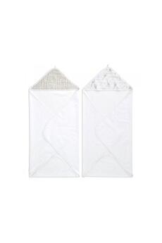 Sortie de Bain bébé Aden And Anais Aden and anais - aden essentials pack 2 starry star hood towels