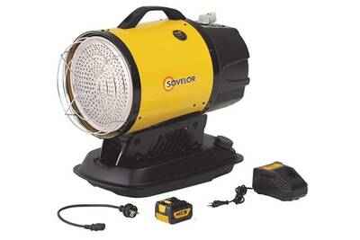 Accessoires chauffage central Sovelor Sovelor - chauffage fuel rayonnant infrarouge avec batterie 17kw - minisun dc