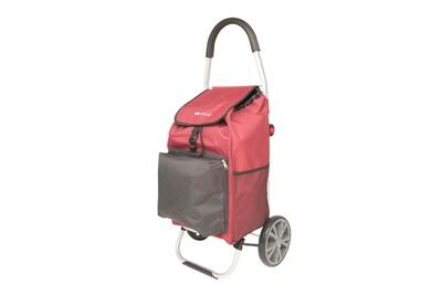 Chariot de course veohome - poussette de marché - caddie à roulettes -  cabas à roues pliable avec sac isotherme veohome (rouge et noir)