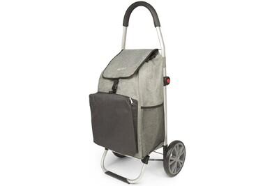 Chariot de course veohome - poussette de marché - caddie à roulettes -  cabas à roues pliable avec sac isotherme veohome (gris et noir)