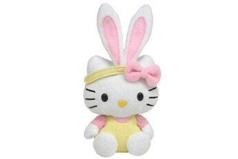 Poupées Hello Kitty Peluche - hello kitty - basket beanie babies - jaune - 13 cm