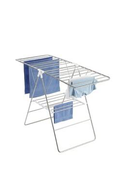 Sèche linge Wenko Séchoir étendoir en acier ajustable flex - 15 m d'étandage - blanc