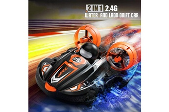 Accessoires pour la voiture Generic Rc cars, land water 2 in 1 remote control boat, 2.4ghz waterproof drift car toy car689