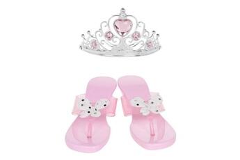 Accessoires de déguisement Marque Generique Autre accessoire deguisement vendu seul amscan - set d'accessoires princesse - diademe et souliers
