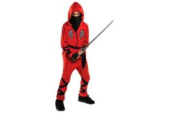 Déguisements Marque Generique Deguisement - panoplie de deguisement taille 6/8 ans amscan - déguisement ninja - haut, pantalon, sash, masque et gants