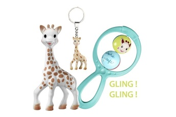 Coffre à jouets Marque Generique Coffret jouet sophie la girafe coffret cadeau il était une fois sophie la girafe