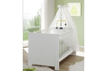 Armoire bébé Marque Generique Chambre complete bebe olivia chambre bébé complete : lit 70x140 cm + armoire + commode - blanc