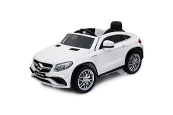 Véhicule électrique E-road Mercedes gle 12v blanc roues gomme - voiture électrique pour enfant avec télécommande parentale