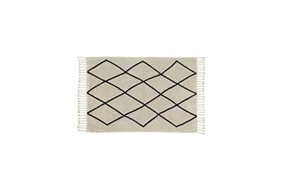 tapis lavable en machine avec franges bereber lorena canals