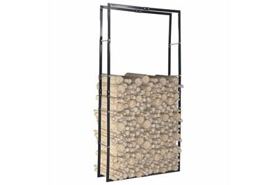 Outil pour couper et débiter le bois GENERIQUE Accessoires pour cheminées et poêles à bois categorie ramallah portant de bois de chauffage noir 100x25x200 cm acier