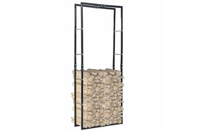 Outil pour couper et débiter le bois GENERIQUE Accessoires pour cheminées et poêles à bois selection ngerulmud portant de bois de chauffage noir 80x25x200 cm acier