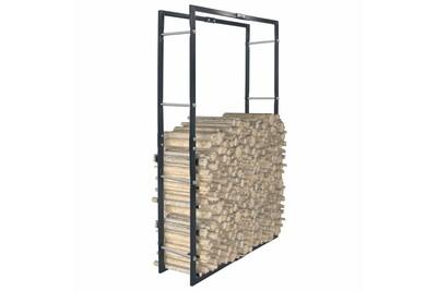 Outil pour couper et débiter le bois GENERIQUE Accessoires pour cheminées et poêles à bois gamme asuncion portant de bois de chauffage noir 80x25x150 cm acier