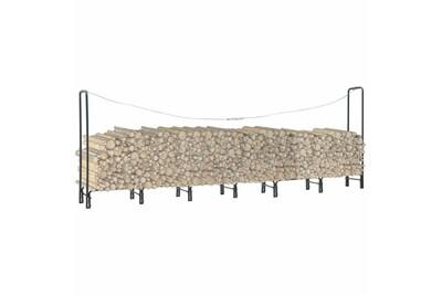 Outil pour couper et débiter le bois GENERIQUE Accessoires pour cheminées et poêles à bois collection manille portant de bois de chauffage anthracite 360x35x120 cm acier