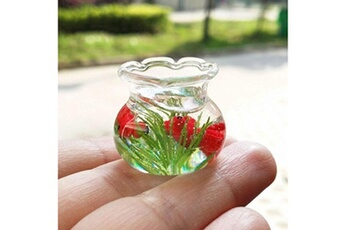 Jouets éducatifs Generic Mini décor résine miniature fish tank accessoire jouet pour 1/6 1/12 dollhouse cleve vinwo2880