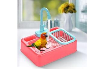 Jouets éducatifs GENERIQUE Bird bathtub, parrot automatic bathtub with faucet, bird shower bathtub for pet