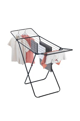 Sèche linge Wenko Sèche-linge pliable à bras design champion - 18 m d'étendage - noir