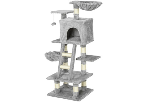 Arbre à chats multi-équipements griffoirs grattoirs niche plateformes + éch
