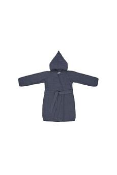 Sortie de Bain bébé Lassig Lassig - peignoir en mousseline bleu marine