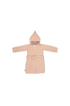Sortie de Bain bébé Lassig Lassig - peignoir en mousseline rose clair 12-18 mois