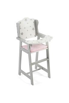 Poupées Bayer Chic 2000 Bayer chic 2000 501 95 - stars - chaise haute de poupée grise