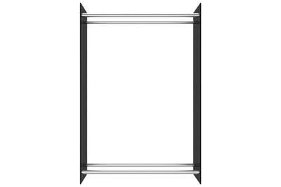 Outil pour couper et débiter le bois GENERIQUE Icaverne - sacs et paniers à bûches moderne portant de bois de chauffage noir 80x35x120 cm verre