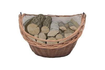 Outil pour couper et débiter le bois GENERIQUE Icaverne - sacs et paniers à bûches joli panier à bois de chauffage avec poignée 60x44x55 cm saule