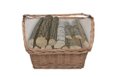 Outil pour couper et débiter le bois GENERIQUE Icaverne - sacs et paniers à bûches chic panier à bois de chauffage avec poignée 61,5x46,5x58 cm marron