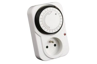 Thermostat et programmateur de chauffage No-name Programmateur journalier mécanique avec interrupteur à voyant